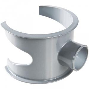 Selle de raccordement PVC gris - Femelle Ø 100 - 40 mm - Nicoll