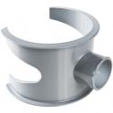 Selle de raccordement PVC gris - Femelle Ø 100 - 50 mm - Nicoll