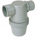 Siphon de parcours PVC gris horizontal - Mâle / femelle - Ø 50 mm - Nicoll