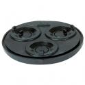 Tampon de réduction élastomère noir 3 sorties universel - Femelle - Ø 125 - 50 - 40 - 32 mm - Nicoll