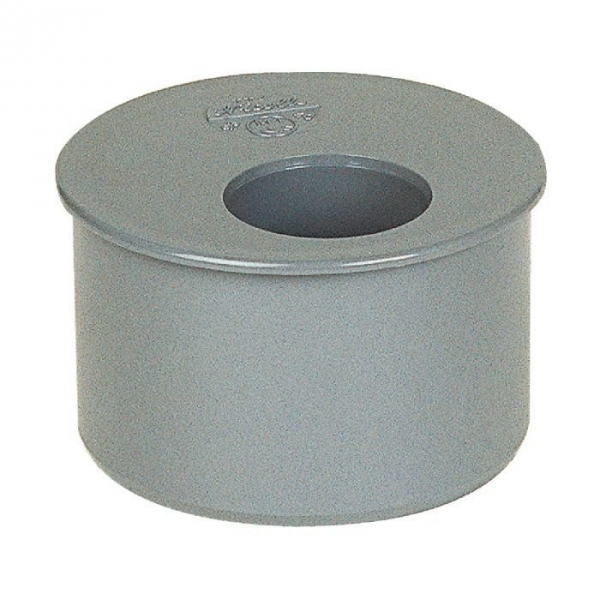 tampon de r duction pvc gris femelle 100 80 mm girpi cazabox. Black Bedroom Furniture Sets. Home Design Ideas