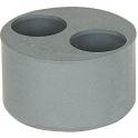 Tampon de réduction PVC gris 2 sortie - Femelle - Ø 125 - 50 - 50 mm - Girpi