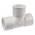 Pied de biche PVC blanc 87°30 - Ø 50 mm - Triple emboîture - Nicoll