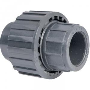 Raccord union PVC pression noir droit - Femelle Ø 50 mm - Girpi