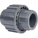 Raccord union PVC pression noir droit - Femelle Ø 63 mm - Girpi