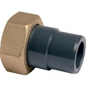 """Raccord union PVC pression noir droit - F 1""""1/4 - Mâle Ø 32 mm - Girpi"""