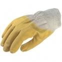 Gant de maçon latex jaune crépé - Vendu par 10 - Taille 10 - Eurotechnique