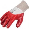 Gant de protection PVC rouge / blanc - Dos aéré - La paire - Taille 9 - Eurotechnique