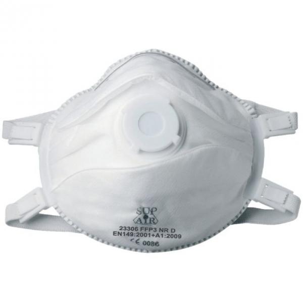 Masque coque avec valve FFP3 SL - Vendu par 5 - Sup air