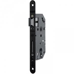 Serrure à larder noire réversible à fouillot - Clé I - Axe à 50 mm - Monomax - Thirard