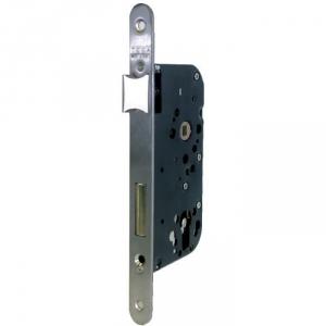 Serrure à larder Laitonnée réversible à fouillot - Clé I - Axe à 50 mm - Série T4130 - Tesa