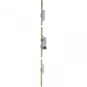 Serrure multipoint bronze gauche à fouillot - Clé I - Axe à 50 mm - Trilock 5000 standard - Vachette