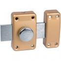 Verrou à bouton bronze - Cylindre 45 mm - Pêne 135 mm - City 25 - Iséo