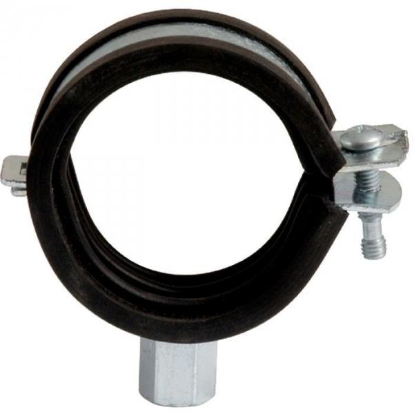Collier isophonique à charnière zingué blanc simple - Tube Ø 48 à 50 mm - Série lourde - Scell-it