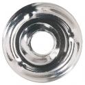 Rosace plate chromé - Ø 30 mm - Plombelec