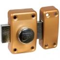 Verrou à bouton bronze - Cylindre 45 mm - Pêne 110 mm - ISR6 - Iséo