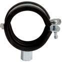 Collier isophonique à charnière zingué blanc simple - Tube Ø 25 à 27 mm - Série lourde - Scell-it