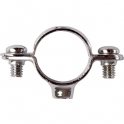 Collier laiton chromé simple - Tube Ø 22 mm - Atlas - Plombelec