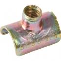 Collier clip zingué jaune simple - Tube Ø 14 mm - Vendu par 100 - Clips