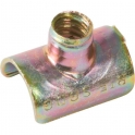 Collier clip zingué jaune simple - Tube Ø 16 mm - Vendu par 100 - Clips