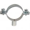 Collier zingué blanc simple - Tube Ø 75 à 80 mm - Série lourde - Plombelec