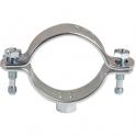 Collier zingué blanc simple - Tube Ø 60 à 64 mm - Série lourde - Pratiko - Plombelec