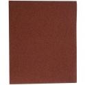 Papier abrasif corindon - 230 x 280 mm - Grain 100 - Support toile - SIA Abrasives