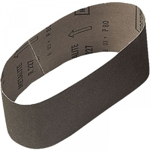 Bande courte corindon - 100 x 610 mm - Grain 100 - Support toile - Lot de 10 - SIA Abrasives