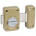 Verrou à bouton bronze - Cylindre 40 mm - Pêne 110 mm - Série V136 - Vachette