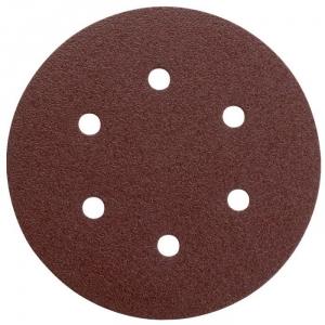 Disque papier auto-agrippant 6 trous - Ø150 mm - Grain 120 - Lot de 5 - SCID