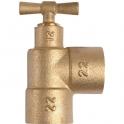 Purgeur laiton en T équerre à souder - Femelle - Ø 14 mm - Conex / Bänninger