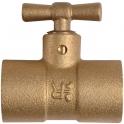 Purgeur laiton en T à souder - Femelle - Ø 18 mm - Conex / Bänninger
