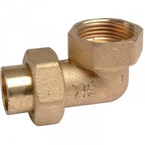 """Raccord union laiton coudé 90° à souder - F 1/2"""" - Ø 12 mm - Ravani"""