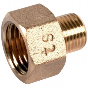 "Raccord laiton hexagonal réduit à visser - M 1/4"" - F 1/2"" - 246G - Thermador"