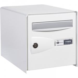 bo te aux lettres blanche simple face probox decayeux cazabox. Black Bedroom Furniture Sets. Home Design Ideas