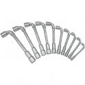Jeu de 10 clés à pipe débouchées - KS Tools