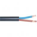 Câble rigide industriel U1000 R2V noir - 3G2,5 mm² - Couronne de 50 m - Lynelec