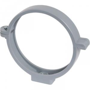 Collier à charnière PVC gris simple - Tube Ø 125 mm - Girpi