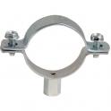 Collier zingué blanc simple - Tube Ø 113 à 118 mm - Série lourde - Plombelec