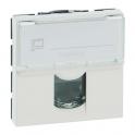 Prise multimédia blanche - RJ 45 - 2 modules - Pour câble Cat 5 - Mosaic - Legrand