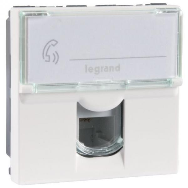 Prise téléphone - RJ11 - 2 module - Mosaic - Legrand