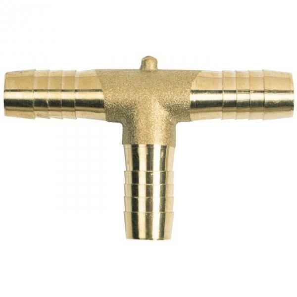 Racord laiton cannelé en T - Tuyau Ø 15 mm - Codital