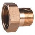 Raccord laiton hexagonal réduit à visser - M 3/4' - F 1' - Thermador