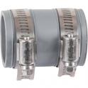 Raccord PVC gris droit - Ø 38 à 45 mm - Multi-matériaux - Girpi