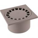 Siphon de sol PVC gris - 200 x 200 mm - Girpi