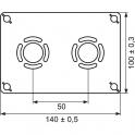 """Sortie de cloison double à glissement - Entraxe 50 mm - PER Ø 12 mm - F 1/2"""" - Robifix - Watts industries"""