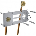 """Sortie de cloison double à souder - Entraxe 150 mm - Cuivre Ø 14 mm - F 1/2"""" - Robifix - Watts industries"""