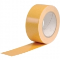 Ruban adhésif double face - Pour sol non lisse - Rouleau de 25 m x 50 mm - Outibat