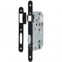 Serrure à larder noire à fouillot sans gâche - Clé I - Axe à 50 mm - Série D455 - Vachette