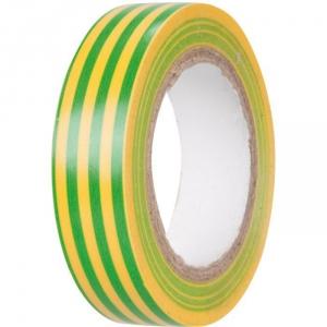 Ruban adhésif isolant vert / jaune - 15 mm - 10 m - Dhome